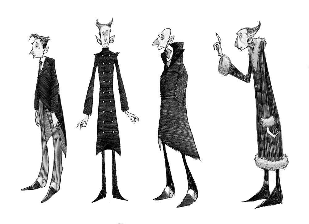 Character Design Challenge Vampire : Animation ross collins